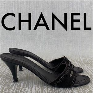 👑 CHANEL HEELED SANDALS 💯AUTHENTIC